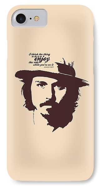 Johnny Depp Minimalist Poster IPhone 7 Case