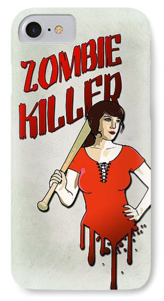 Zombie Killer IPhone Case by Nicklas Gustafsson