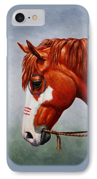 Native American War Horse IPhone Case by Crista Forest
