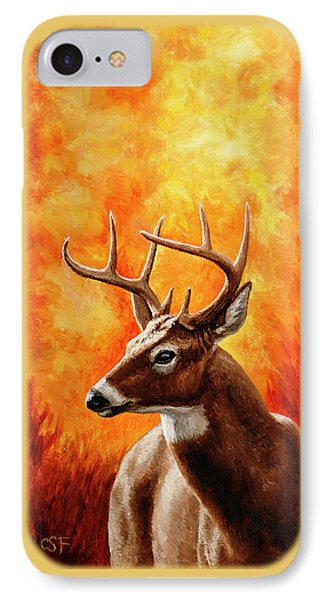 Whitetail Buck Portrait IPhone Case