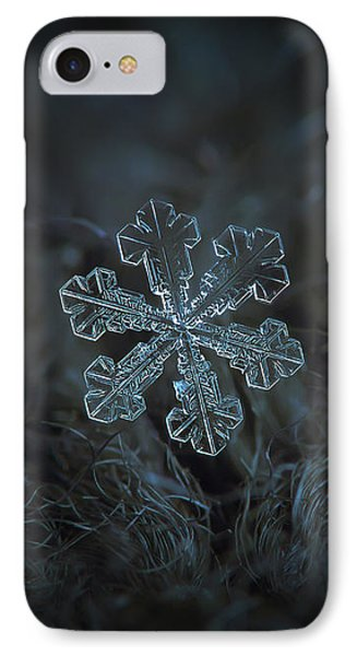 IPhone Case featuring the photograph Snowflake Photo - Vega by Alexey Kljatov