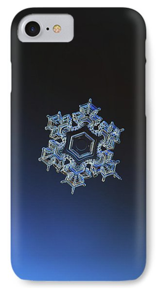 Snowflake Photo - Spark IPhone Case by Alexey Kljatov