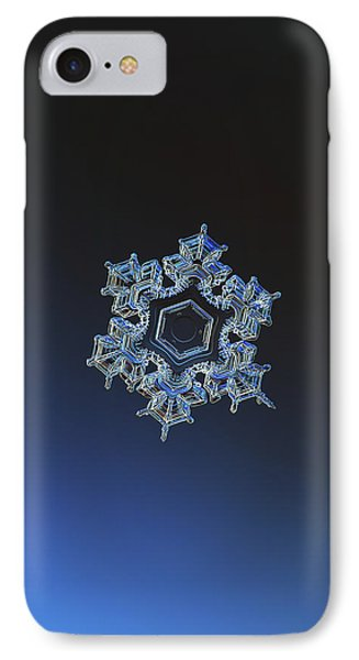 IPhone Case featuring the photograph Snowflake Photo - Spark by Alexey Kljatov