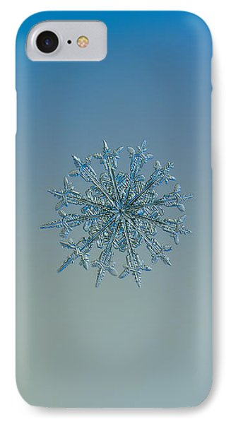 IPhone Case featuring the photograph Snowflake Photo - Twelve Months by Alexey Kljatov