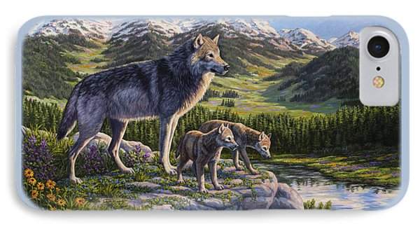 Wolf Painting - Passing It On IPhone 7 Case by Crista Forest