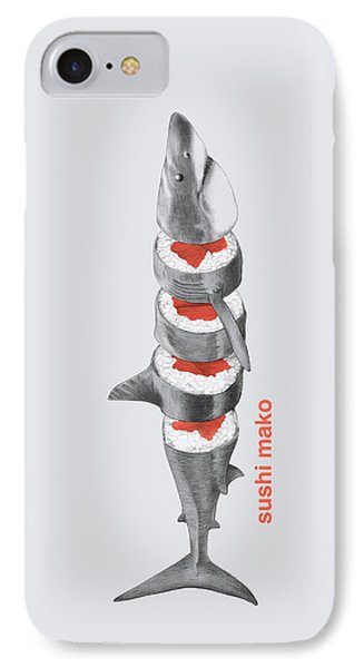 Reef Shark iPhone 7 Case - Sushi Mako by Eric Fan