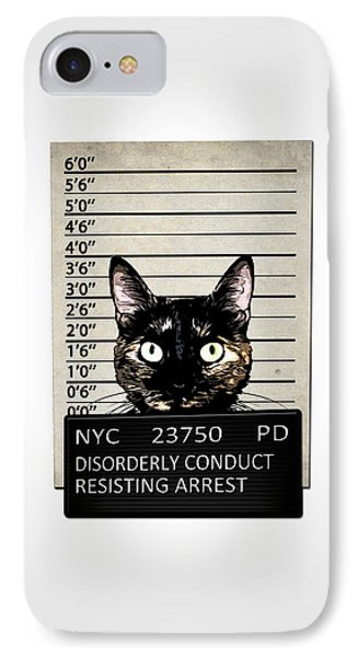 Kitty Mugshot IPhone 7 Case by Nicklas Gustafsson