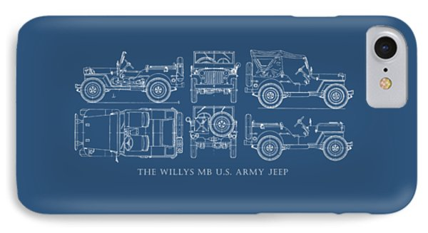 The Willys Jeep IPhone Case by Mark Rogan