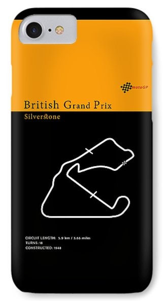 Moto Gp Great Britain IPhone Case by Mark Rogan