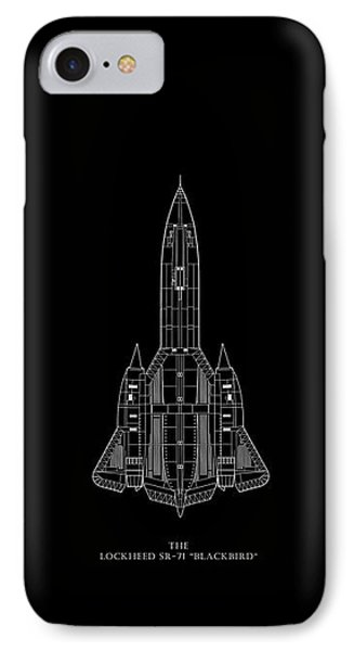 The Lockheed Sr-71 Blackbird IPhone Case by Mark Rogan