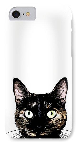 Peeking Cat IPhone Case