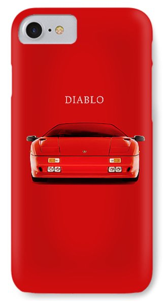 The Lamborghini Diablo IPhone Case by Mark Rogan