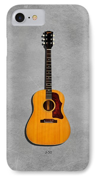 Gibson J-50 1967 IPhone 7 Case by Mark Rogan