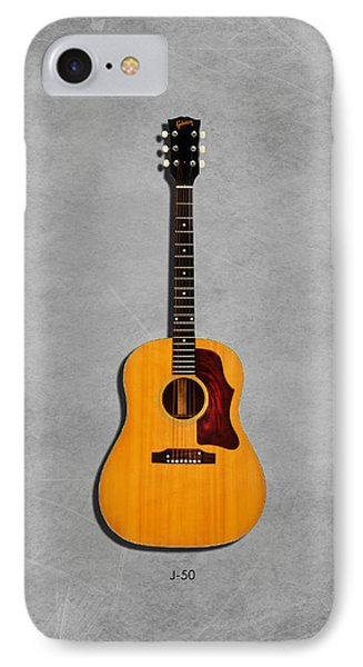 Gibson J-50 1967 IPhone Case by Mark Rogan
