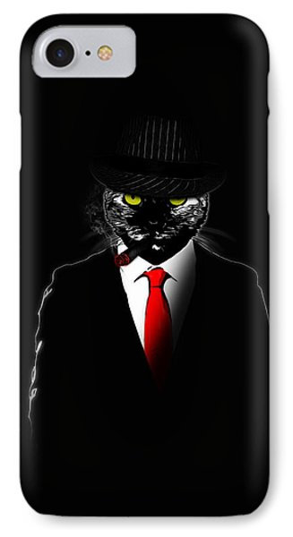 Mobster Cat Phone Case by Nicklas Gustafsson