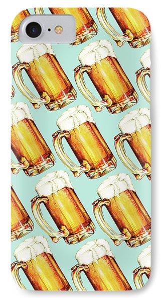 Beer Pattern IPhone 7 Case by Kelly Gilleran