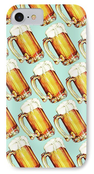 Beer Pattern IPhone Case by Kelly Gilleran