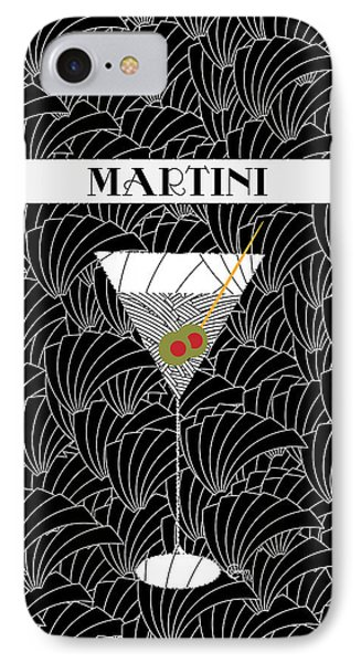 1920s Martini Cocktail Art Deco Swing   IPhone Case by Cecely Bloom