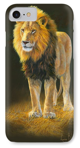 Lion iPhone 7 Case - In His Prime by Lucie Bilodeau