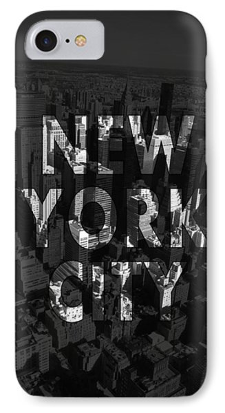 New York City - Black IPhone Case by Nicklas Gustafsson