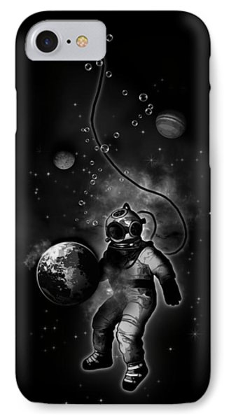 Planets iPhone 7 Case - Deep Sea Space Diver by Nicklas Gustafsson