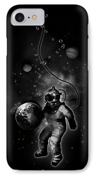 Deep Sea Space Diver IPhone Case by Nicklas Gustafsson