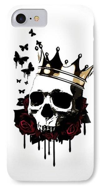 Rose iPhone 7 Case - El Rey De La Muerte by Nicklas Gustafsson