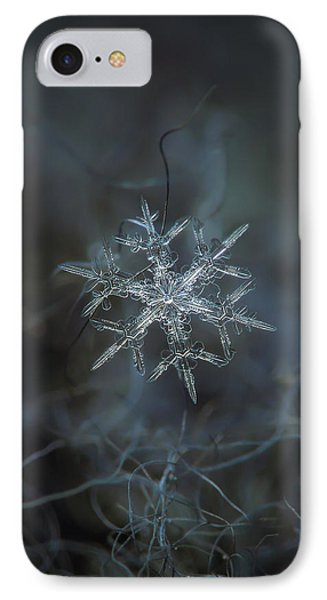 IPhone Case featuring the photograph Snowflake Photo - Rigel by Alexey Kljatov