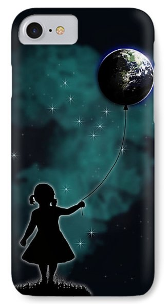 The Girl That Holds The World IPhone Case by Nicklas Gustafsson