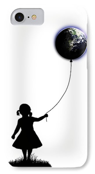 The Girl That Holds The World - White  IPhone Case by Nicklas Gustafsson