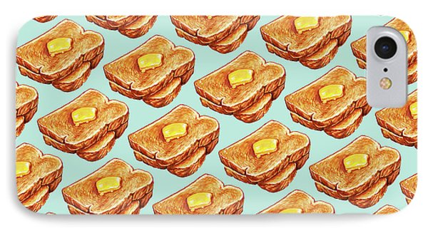 Buttered Toast Pattern IPhone Case by Kelly Gilleran