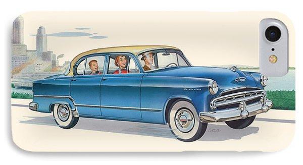 1953 Dodge Coronet Antique Car - Nostagic Americana - Vintage Tranportation IPhone Case by Walt Curlee