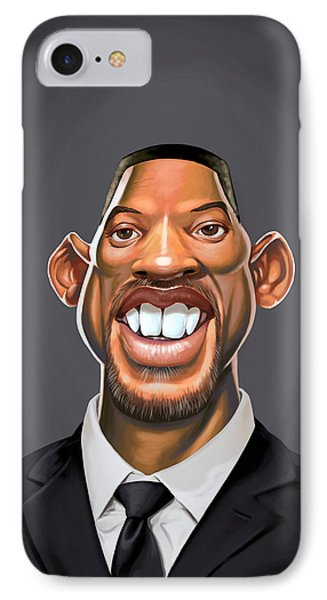 Celebrity Sunday - Will Smith IPhone Case by Rob Snow
