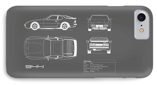 Porsche 944 Blueprint IPhone Case