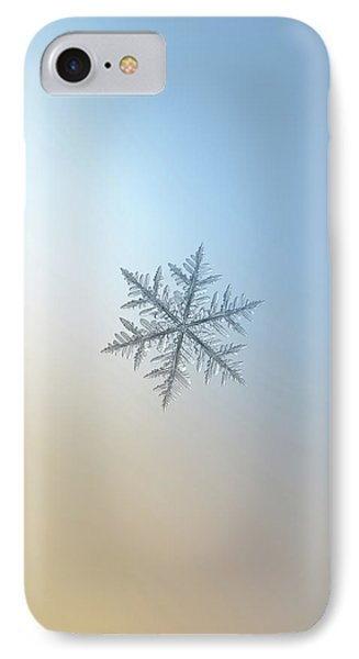 IPhone Case featuring the photograph Snowflake Photo - Silverware by Alexey Kljatov