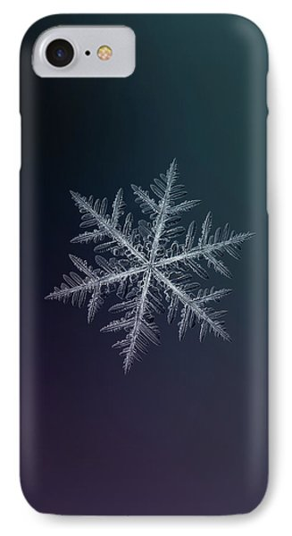 IPhone Case featuring the photograph Snowflake Photo - Neon by Alexey Kljatov