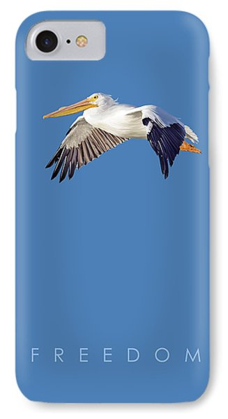 IPhone Case featuring the digital art Blue Series 003 Freedom by Rob Snow