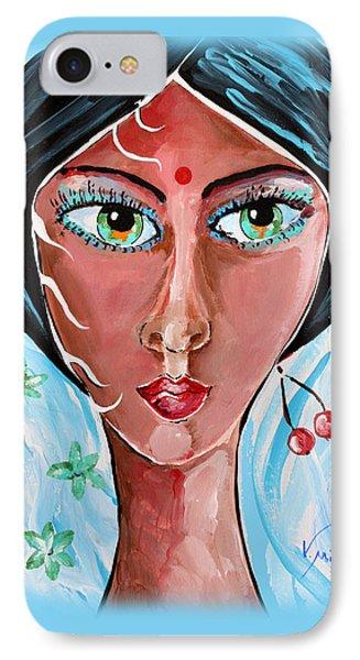 Timeless Dreamer - Woman Face Art By Valentina Miletic IPhone Case by Valentina Miletic