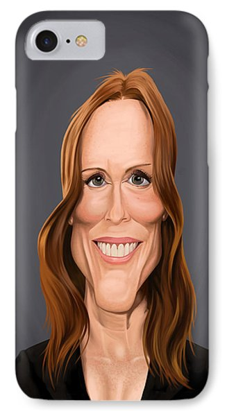 IPhone Case featuring the drawing Celebrity Sunday - Julianne Moore by Rob Snow
