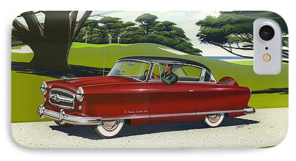 1953 Nash Rambler - Square Format Image Picture IPhone Case by Walt Curlee