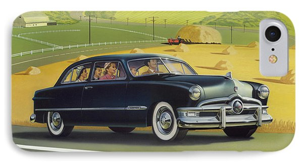 1950 Custom Ford - Square Format Image Picture IPhone Case by Walt Curlee
