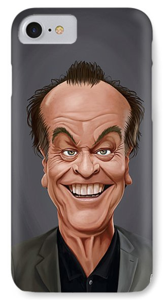 IPhone Case featuring the drawing Celebrity Sunday - Jack Nicholson by Rob Snow