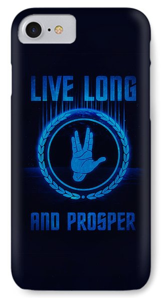 Live Long And Prosper Spock's Hand Leonard Nimoy Geek Tribut IPhone Case by Philipp Rietz