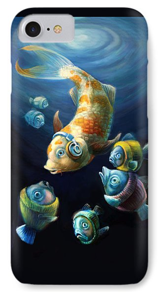Easy Listening Streaker Fish Among The Sweater Fish IPhone Case by Vanessa Bates