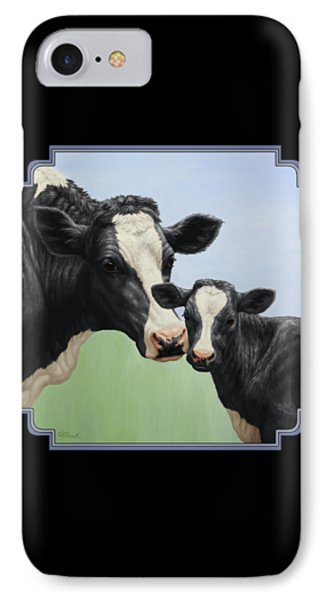 Holstein Cow And Calf IPhone Case