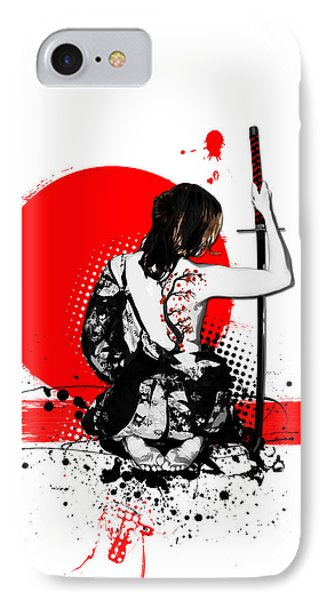 Trash Polka - Female Samurai IPhone Case