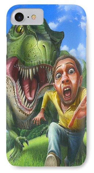 Tyrannosaurus Rex Jurassic Park Dinosaur - T Rex - T Rex - Extinct Predator - Square Format IPhone Case by Walt Curlee
