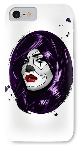 Clown Girl IPhone Case by Nicklas Gustafsson