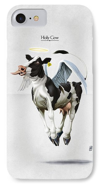 Holy Cow IPhone Case by Rob Snow