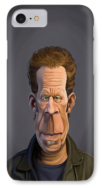 Celebrity Sunday - Tom Waits IPhone Case by Rob Snow
